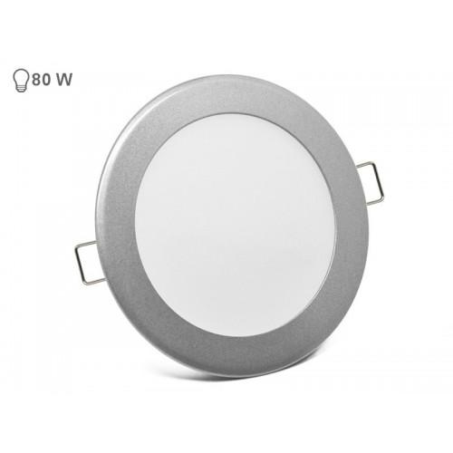 VGRADNI 12W OKROGEL LED PANEL siv rob