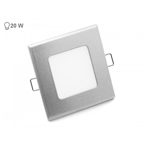 VGRADNI 4W KVADRATEN LED PANEL siv rob