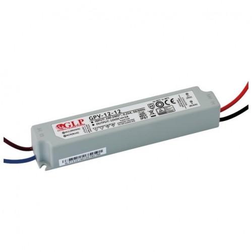 LED NAPAJALNIK GLP 12W 12V IP67