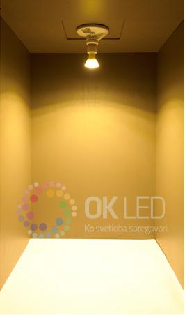 Barva LED žanic - toplo bela