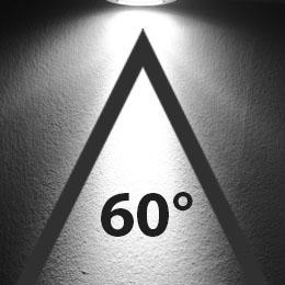 LED žarnica pod kotom 60 stopinj