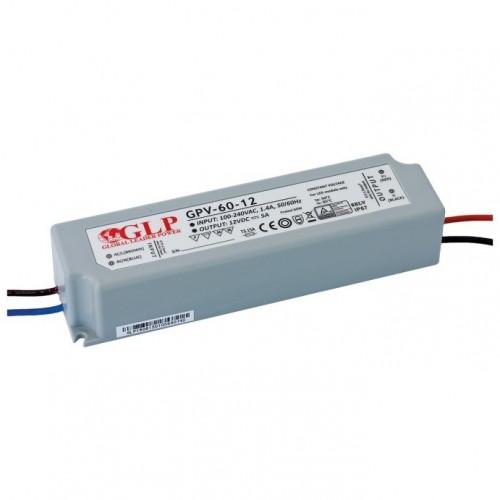 LED NAPAJALNIK GLP 60W 12V IP67